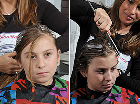 Girl Getting MagicMousse Lice Treatment